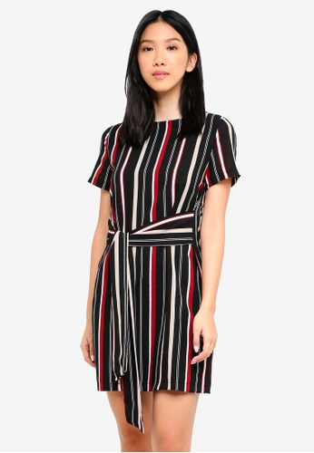 ZALORA BASICS multi Tie Front Dress 0B72BAA2FF6FCBGS_1