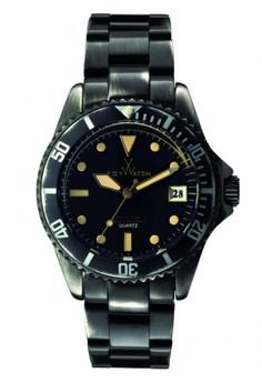 ToyWatch  Vintage Collection Black Steel Bracelet Men Watch
