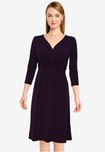 French Connection brown Leticia Wrap Front Dress A3ED7AA5A4F479GS_1