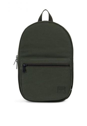 Herschel green Lawson Cotton Canvas Backpack HE958AC0KA1EPH_1