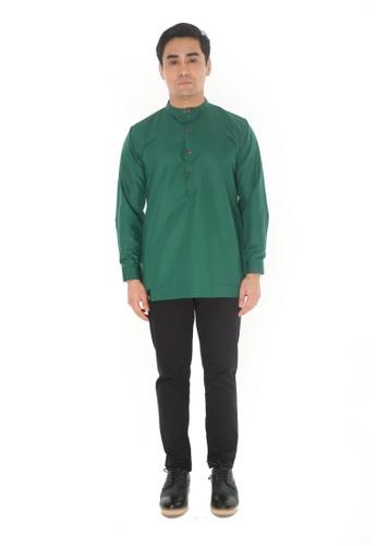 Amar Amran green Kurta Luqman 77F9AAA3464E66GS_1