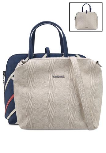 Desigual blue and navy Arianne Hamar Top Handle Bag A88EEAC7B1EAD8GS_1