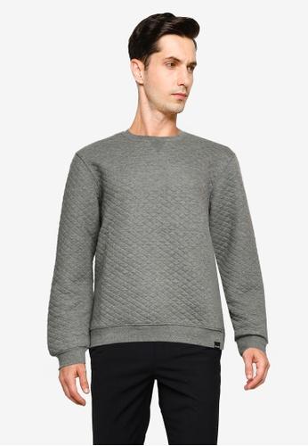 Only & Sons grey Caden Crew Neck Sweatshirt 4A7E6AA4070E20GS_1