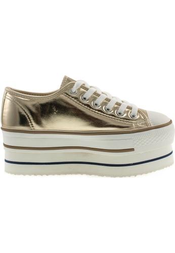 Maxstar gold Maxstar Women's CN9 6 Holes Double Platform TC Low Top Sneakers US Women Size MA164SH59PSASG_1
