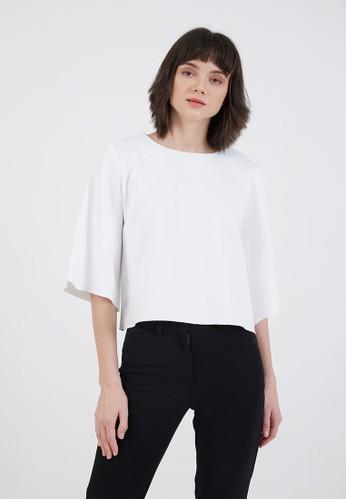 Berrybenka Label white Sophie Missy Plain Blouse White AF93FAA4533CF9GS_1