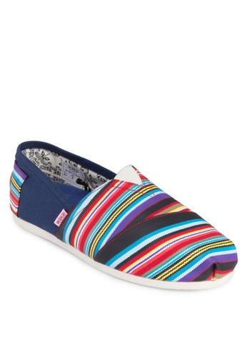 Seresprit台北門市ape 彩色條紋懶人鞋, 鞋, 船型鞋