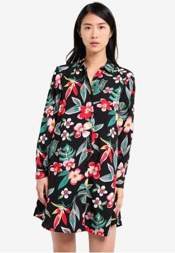 ZALORA black Swing Shirt Dress 3E6FBAA59C05CAGS_1