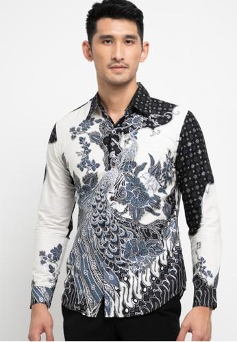 Rianty Batik navy Kemeja Slimfit Gervaso 0493AAA383EFE0GS_1