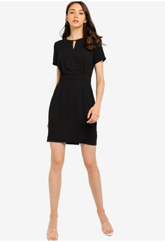 20de176913b4 ZALORA BASICS Basic Metal Bar Neck Detail Dress HK$ 199.00. Sizes XS S M L  XL