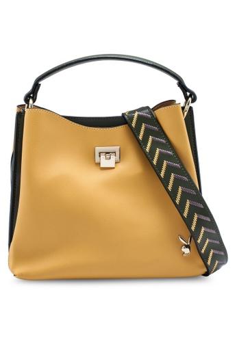 PLAYBOY BUNNY yellow Ladies Handbag D6858ACED66A08GS_1