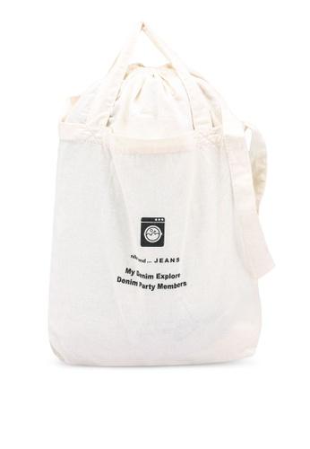 niko and ... beige Print Tote Bag C6D4CACA58CCAAGS_1