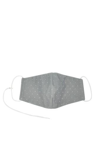 MAYONETTE grey MAYONETTE Lace Masker Basic Polka 3 pcs - Grey - Non-medis - High Quality B4509ES9AB48A6GS_1