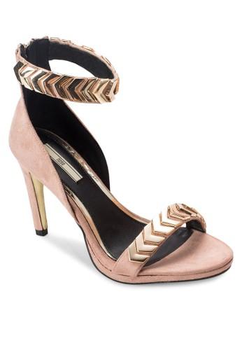 金屬鏈飾esprit tw一字帶高跟鞋, 女鞋, 知性女強人