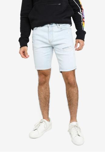 Hollister blue Denim Destroy Shorts B9D9EAA291B5A4GS_1