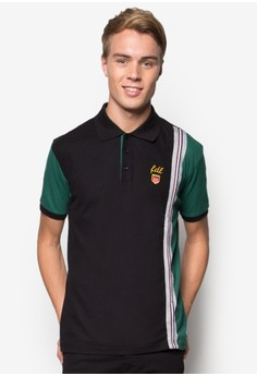 Contrasted Block Taping Polo Tee