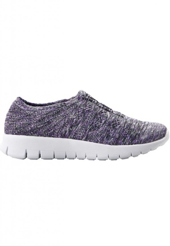 F-KNIT multi Ladies Slip-On Classic Sneaker FK273SH82XEBHK_1