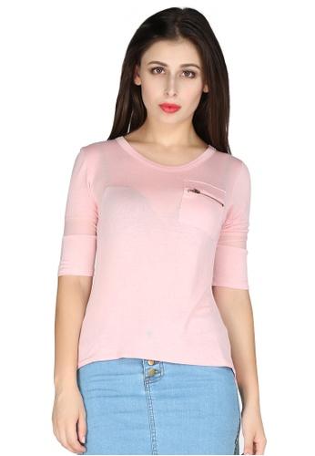 London Rag pink Pink See Through Mesh top E123FAABB3A0F6GS_1