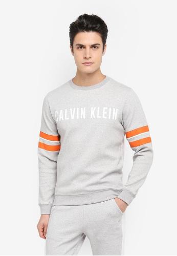 Calvin Klein grey Pullover with Sleeve Stripe Sweater - Calvin Klein Performance 838BFAA708A77EGS_1
