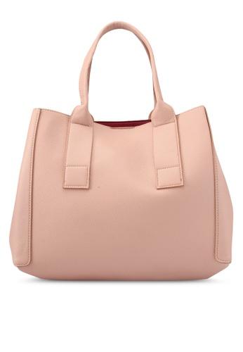 Mango pink Pebbled Effect Shopper Bag 81D49AC699DCAFGS_1