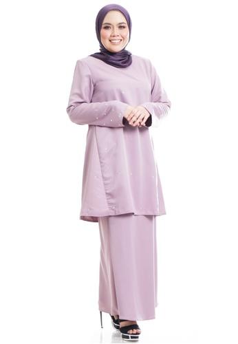 Ashura purple Yuuka Kurung Riau Modern With Diamond Sprinkle Stone E4D1FAA7471B0AGS_1