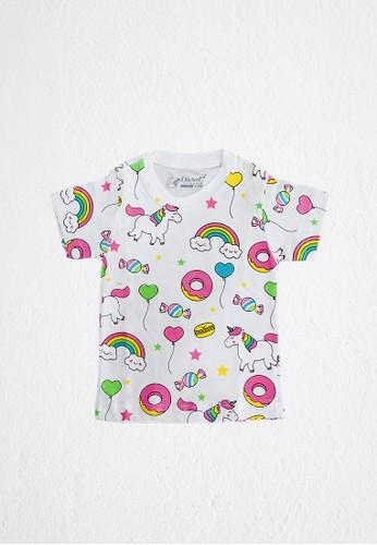 DISCREET KIDSWEAR white Discreet Kidswear White Unicorn T-shirt C98E8KAFA3C0CAGS_1