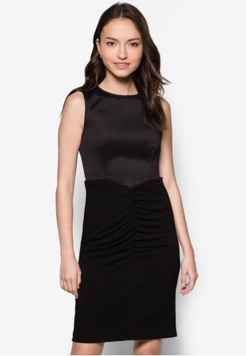 抓褶貼身連身裙, 服飾, zalora開箱洋裝