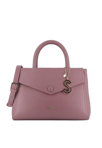 SEMBONIA purple Duo-Colour Satchel Bag D5204AC4C4E335GS_1
