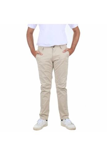SCOTCH&CO SCOTCHCO Celana Panjang Pria Chinos Casual Slim Fit Stretch Campbell Chino Pants Cream 27121-32923 0352FAA710C231GS_1