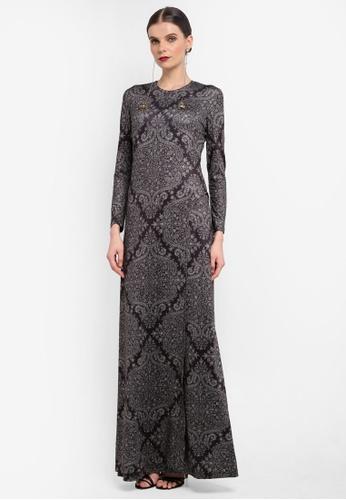 Rizalman for Zalora black Slit Jersey Dress RI909AA0SF18MY_1