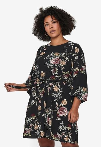 Only CARMAKOMA black Plus Size Luxmila Mini Dress 833E9AA86ADFB0GS_1