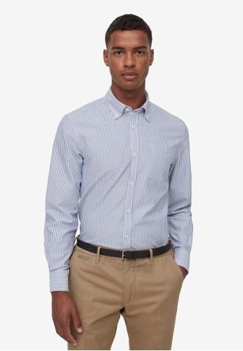 OVS blue Piombo Striped Shirt 6F98EAA699BB4DGS_1