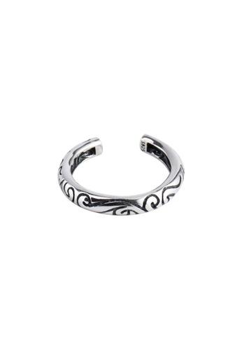 OrBeing 白色 Premium S925 Sliver Vintage Ring 755DBAC275C483GS_1