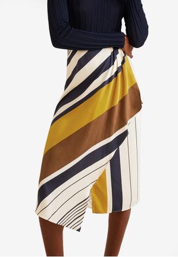 MANGO multi and beige Printed Midi Skirt 77E9CAAA4363ABGS_1