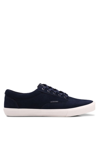 Jack & Jones navy Vision Suede Sneakers 376CESH4B60415GS_1
