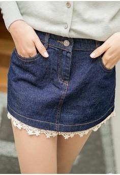[IMPORTED] In Full Bloom Denim Skirt