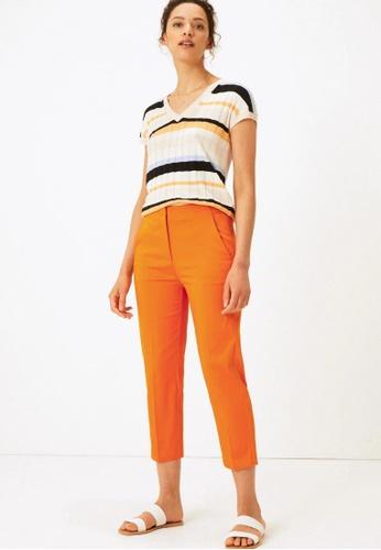 MARKS & SPENCER orange Mia Slim Cropped Trousers E5872AA7774079GS_1