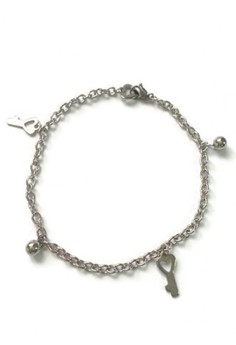 Stainless Steel Key Charms Anklets