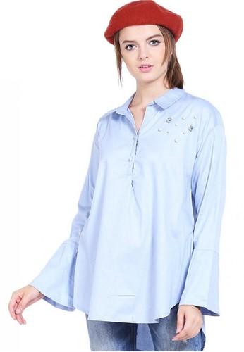 Novo blue Blouse Bell Sleeve 45A1AAAB0227CCGS_1