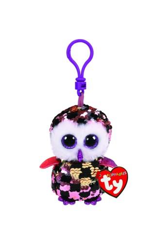 TY TY - Beanie Boos Flippables Checks the Checkered Owl - Keyhain 4EFD1TH3FC3565GS_1