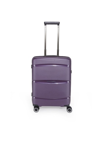 "Lushberry purple Plasmalite Hardcase Cabin size Luggage-20"" 96757ACB8D8987GS_1"