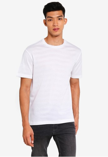 MANGO Man white Rounded Neck Cotton T-Shirt ED3CAAAA77A69AGS_1