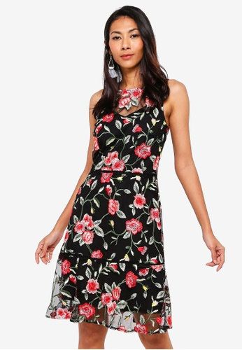 WAREHOUSE multi Int Embroidered Floral Dress 5C11BAAFD99742GS_1