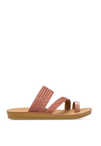Noveni 紅色 Plait Sandals 45050SH34E0662GS_1