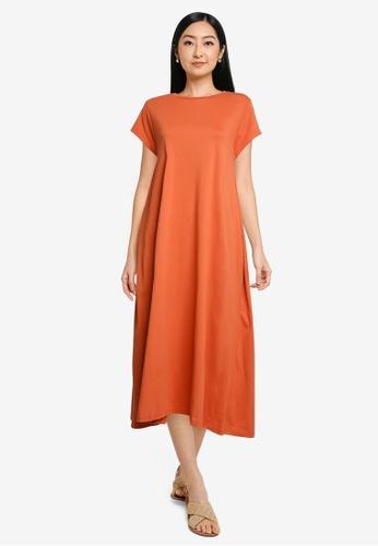 niko and ... orange Midi T-Shirt Dress 1C195AA7B5457CGS_1
