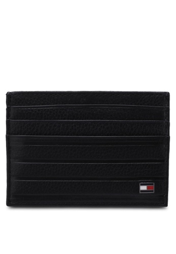 Tommy Hilfiger black EMBOSS STRIPE CC HOLDER TO861AC0S4LHMY_1
