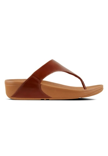 e35792f89 FitFlop brown Fitflop Lulu Leather Toe Post Caramel 04F92SH9F44AF6GS 1