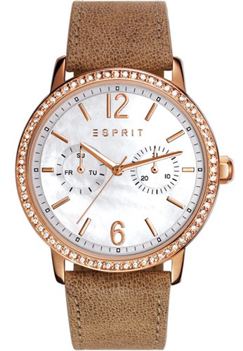 ESPRIT gold Esprit ES108092006 - Jam tangan Wanita - Rosegold - Kulit Cream ES347AC69RVUID_1