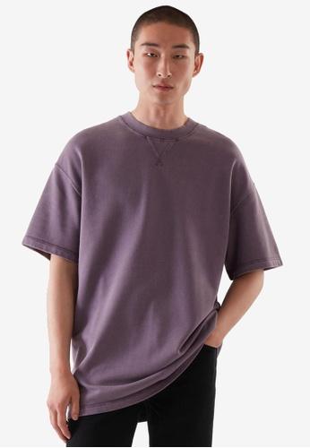COS purple Oversized-Fit Sweat T-Shirt A9E22AA997C024GS_1