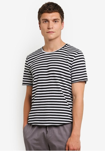 Factorie black and white Short Sleeve Curved Tall Waffler T-Shirt FA880AA0RPMAMY_1