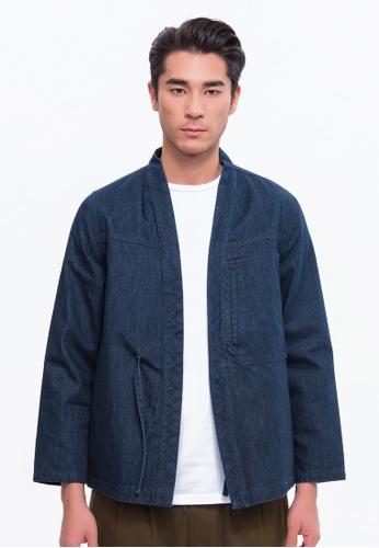 Alpha Style blue Yoshiro Kimono Jacket AL461AA0FVD8SG_1